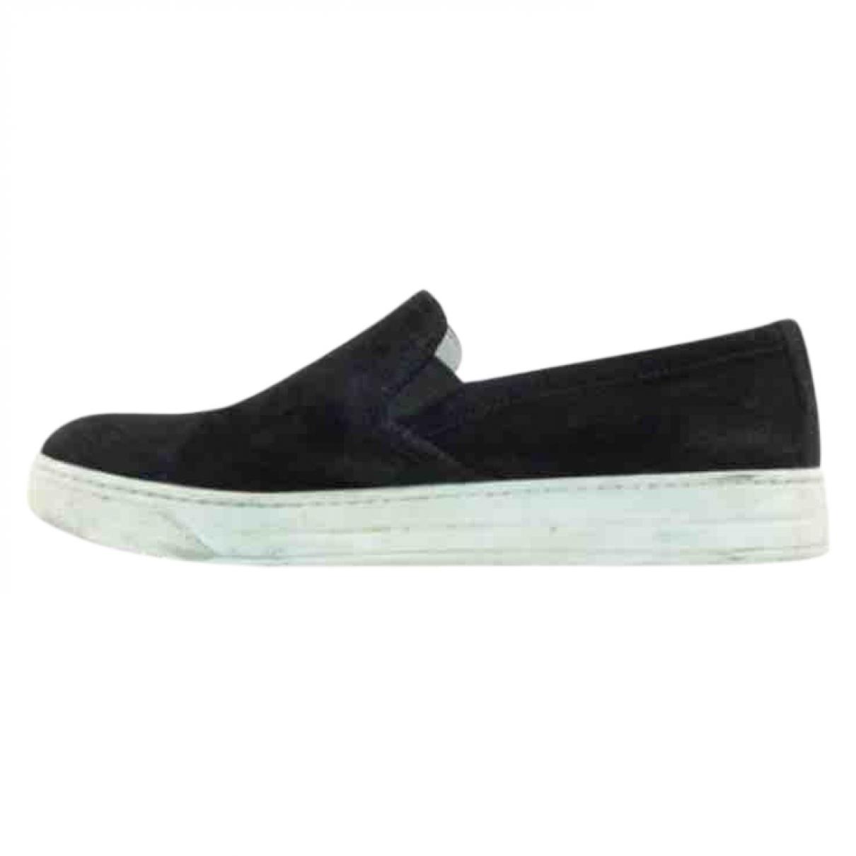 Prada \N Sneakers in  Schwarz Veloursleder
