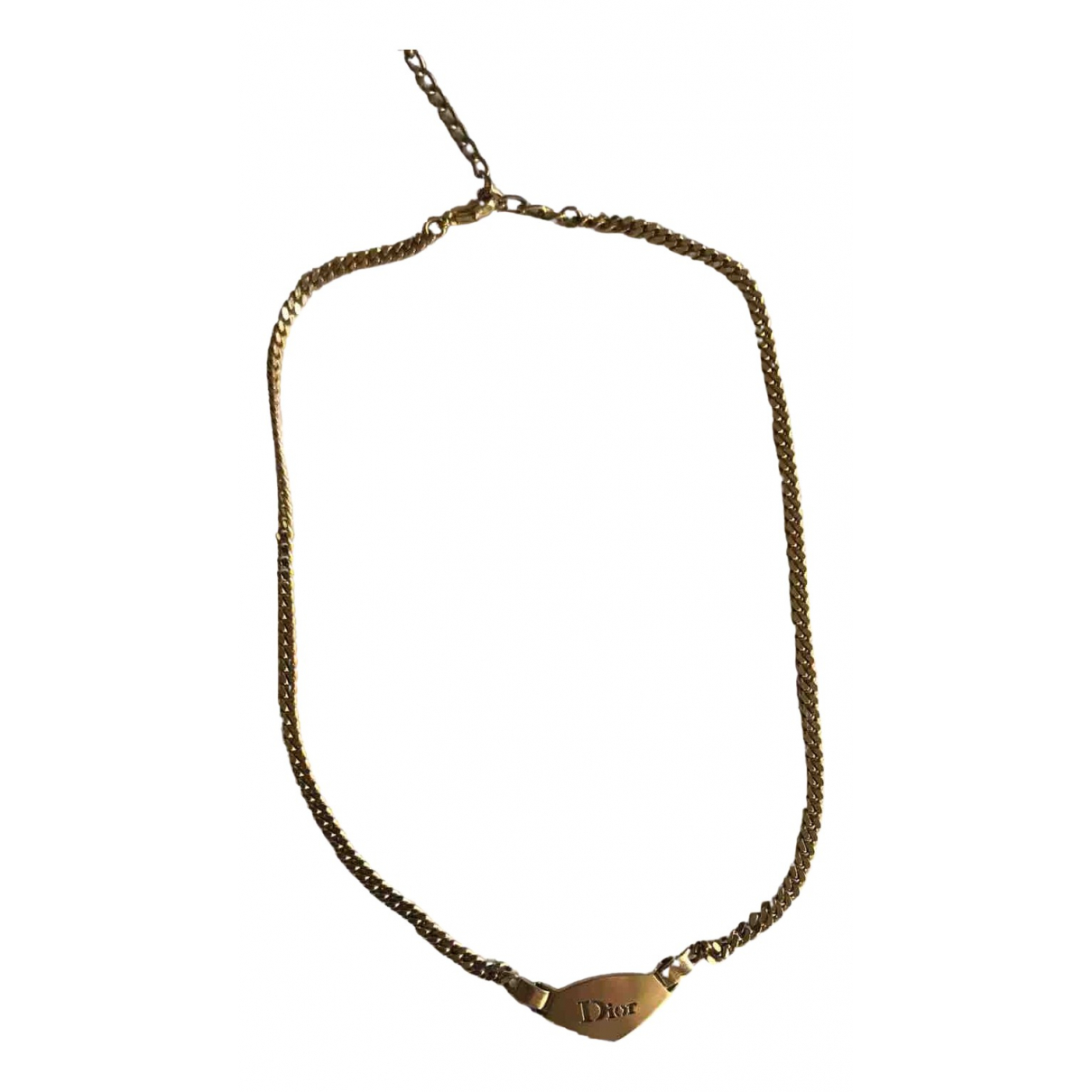 Dior N Gold Steel necklace for Women N