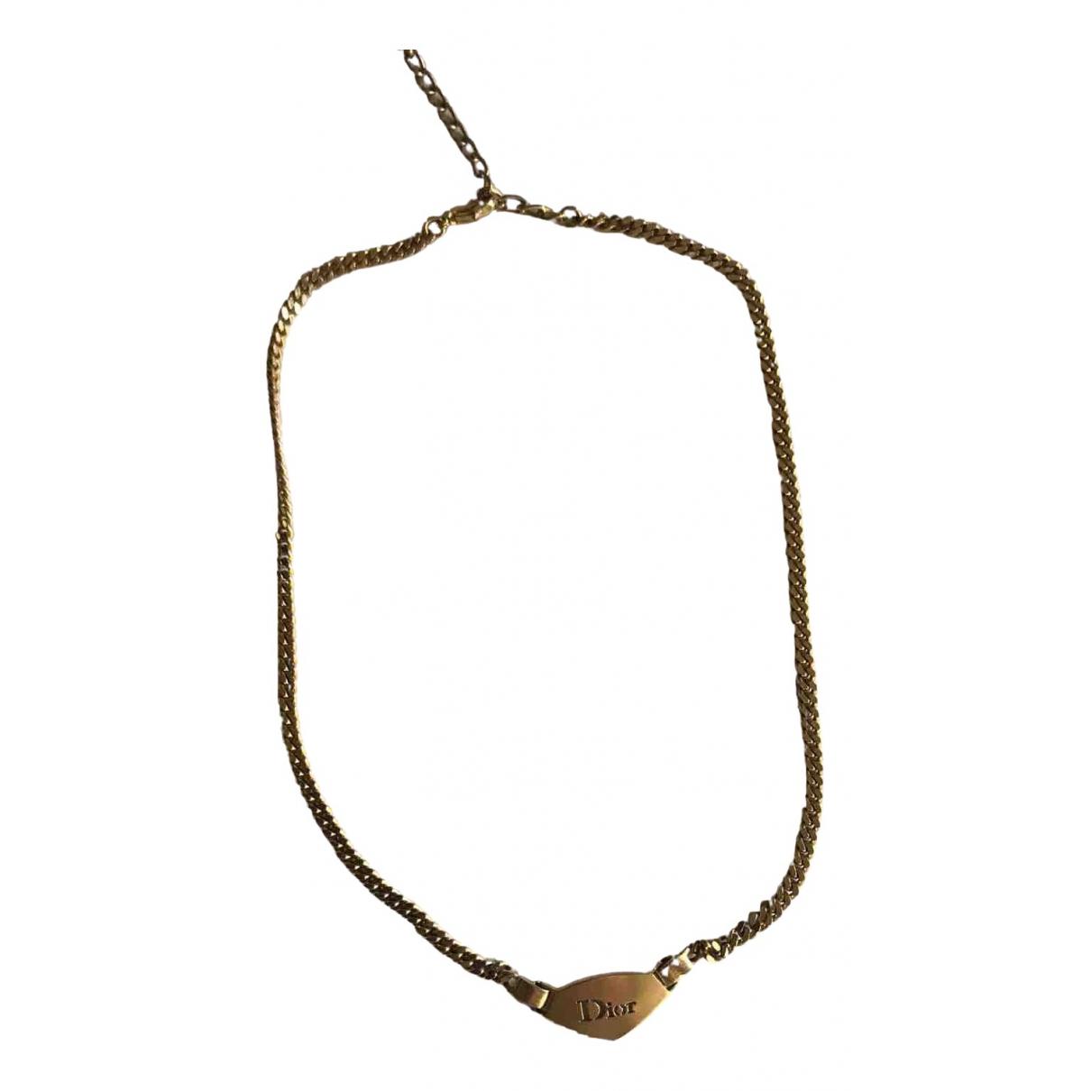 Dior - Collier   pour femme en acier - dore