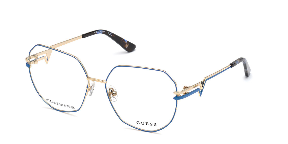 Guess GU 2829 092 Women's Glasses Gold Size 57 - Free Lenses - HSA/FSA Insurance - Blue Light Block Available