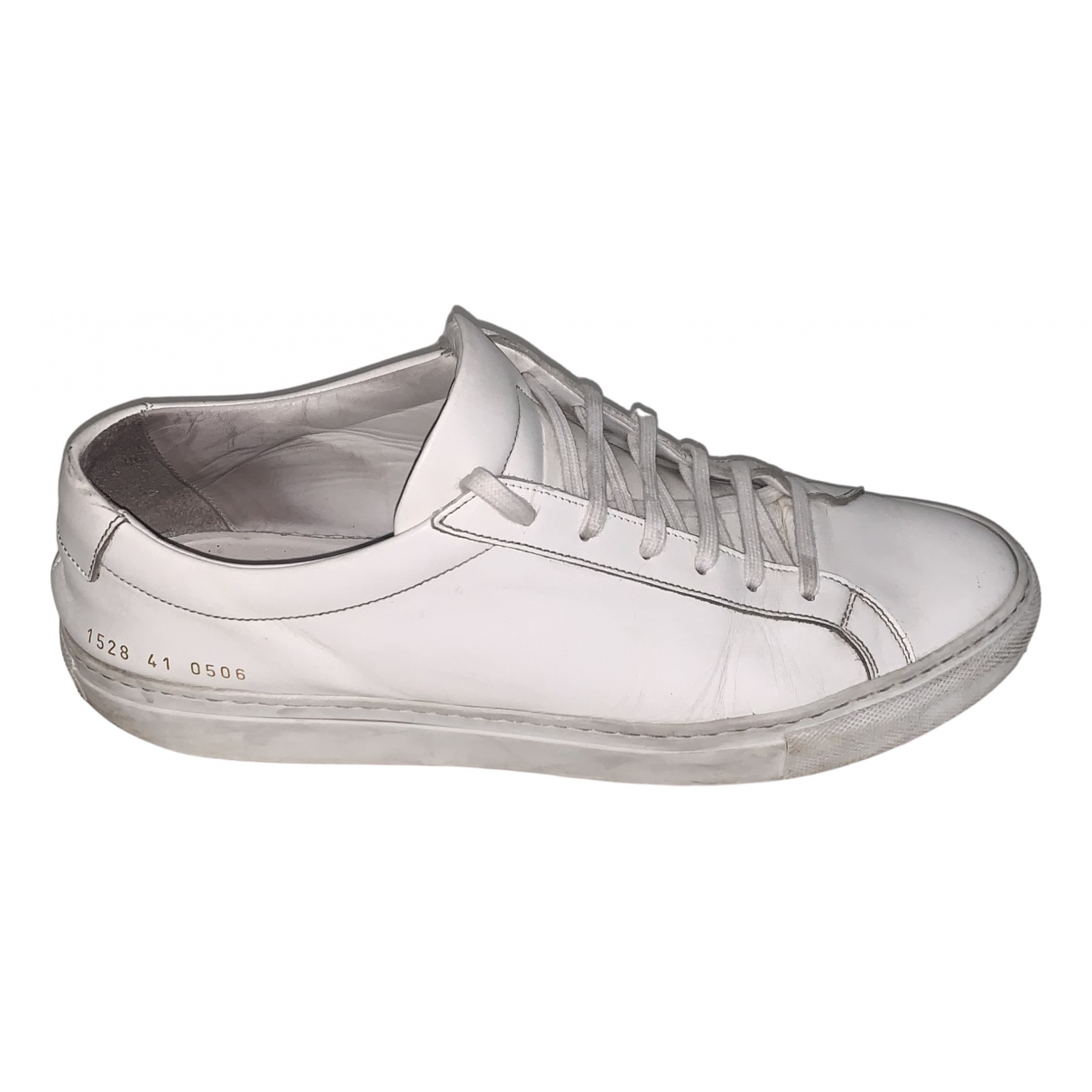 Common Projects N White Leather Trainers for Men 41 EU