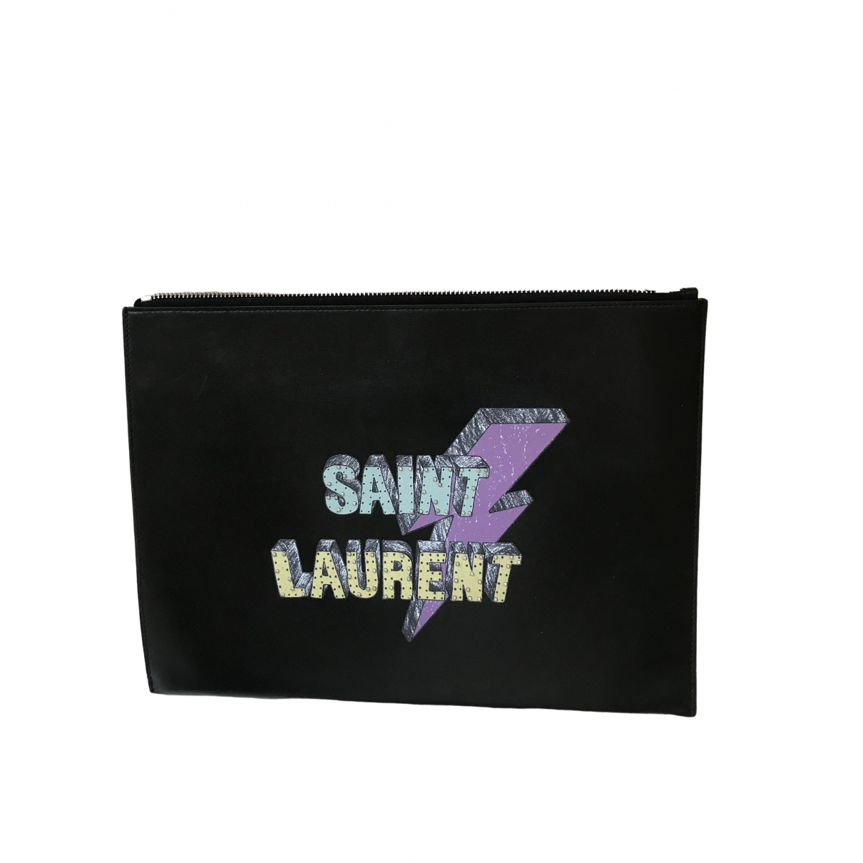Saint Laurent \N Clutch in  Schwarz Leder