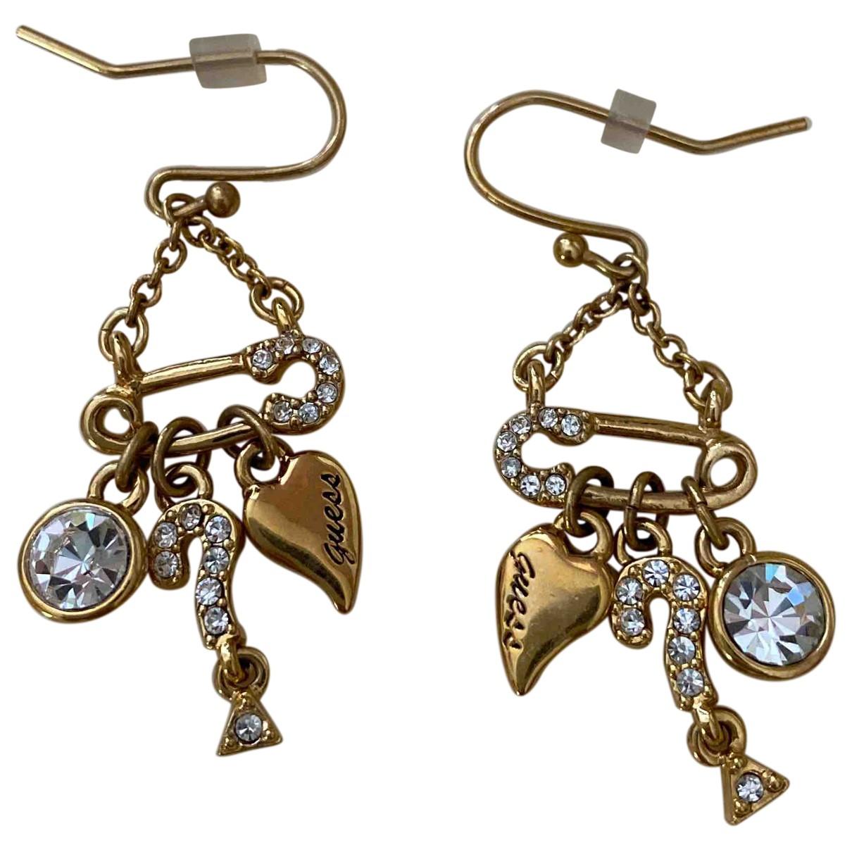 Guess \N Gold Metal Earrings for Women \N