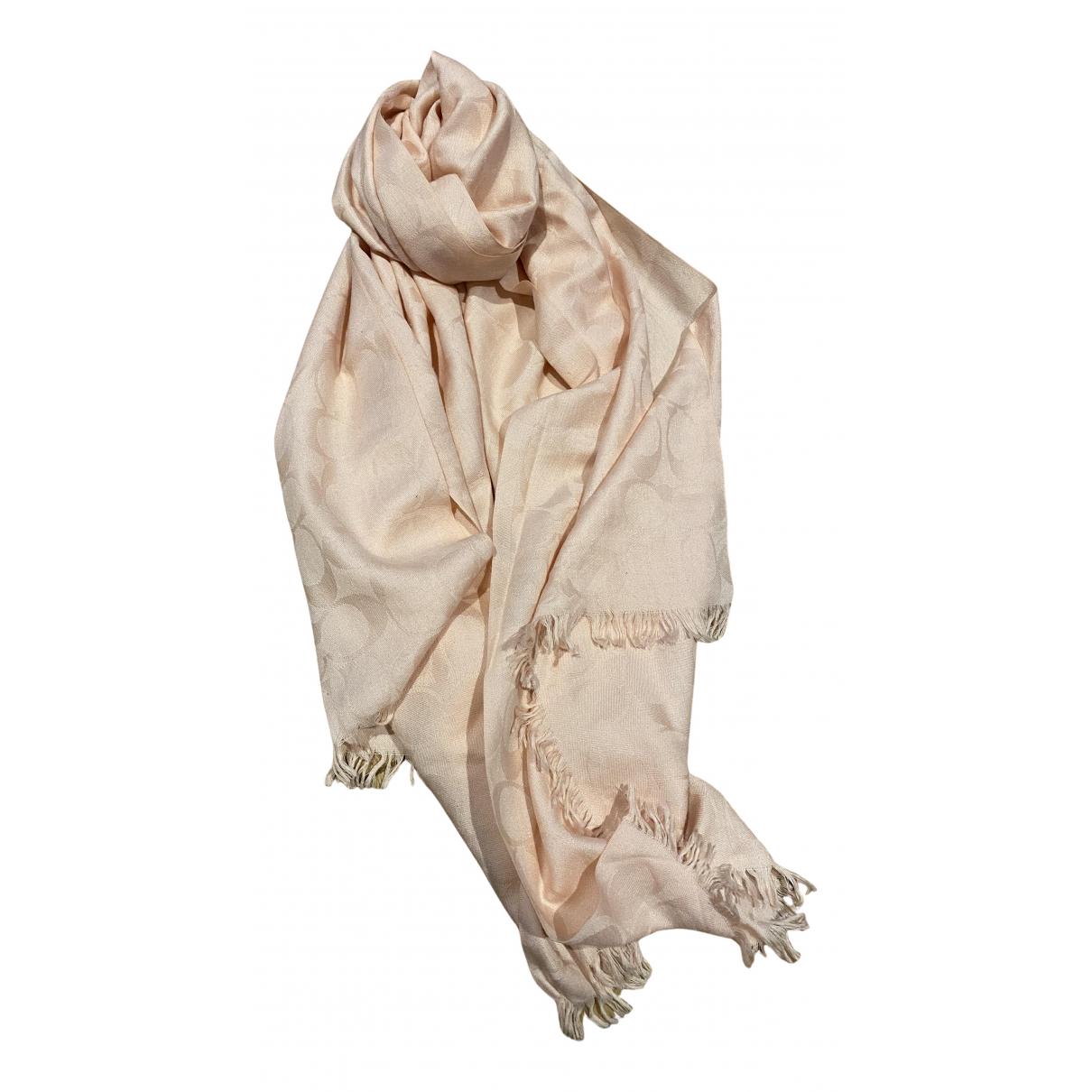 Coach - Foulard   pour femme en laine - rose