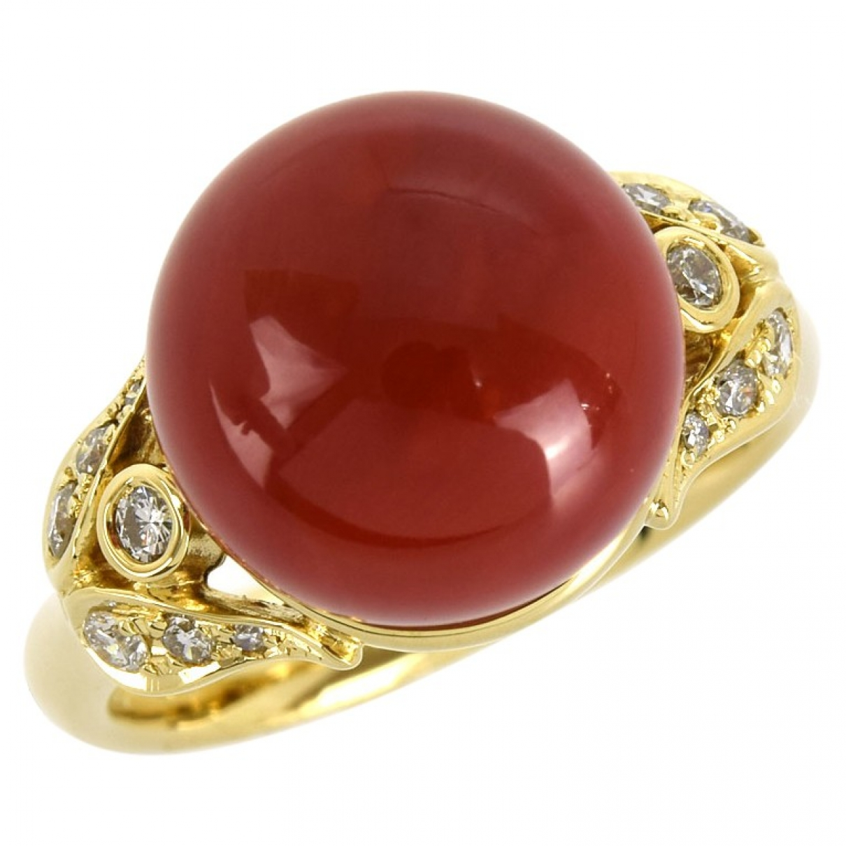 Non Signé / Unsigned \N Red Yellow gold ring for Women 52 EU