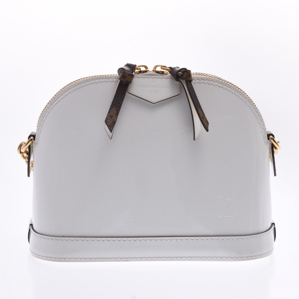 Louis Vuitton Alma BB Handtasche in  Weiss Leder