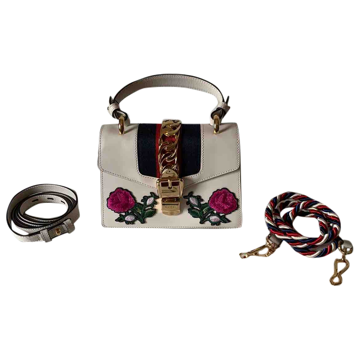 Gucci Sylvie White Leather handbag for Women \N