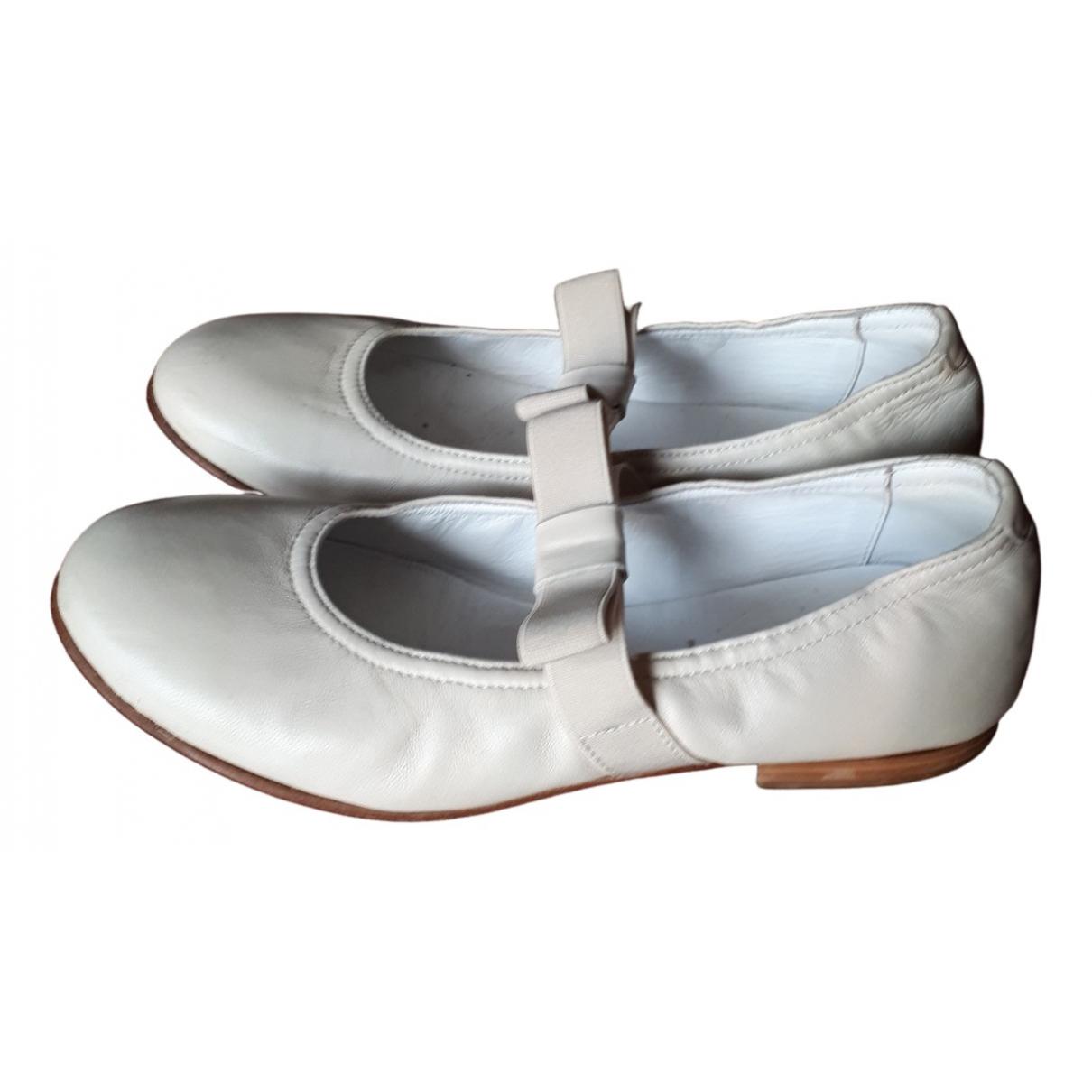 I Pinco Pallino \N Beige Leather Ballet flats for Kids 36 FR