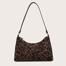 Bolso baguette de leopardo
