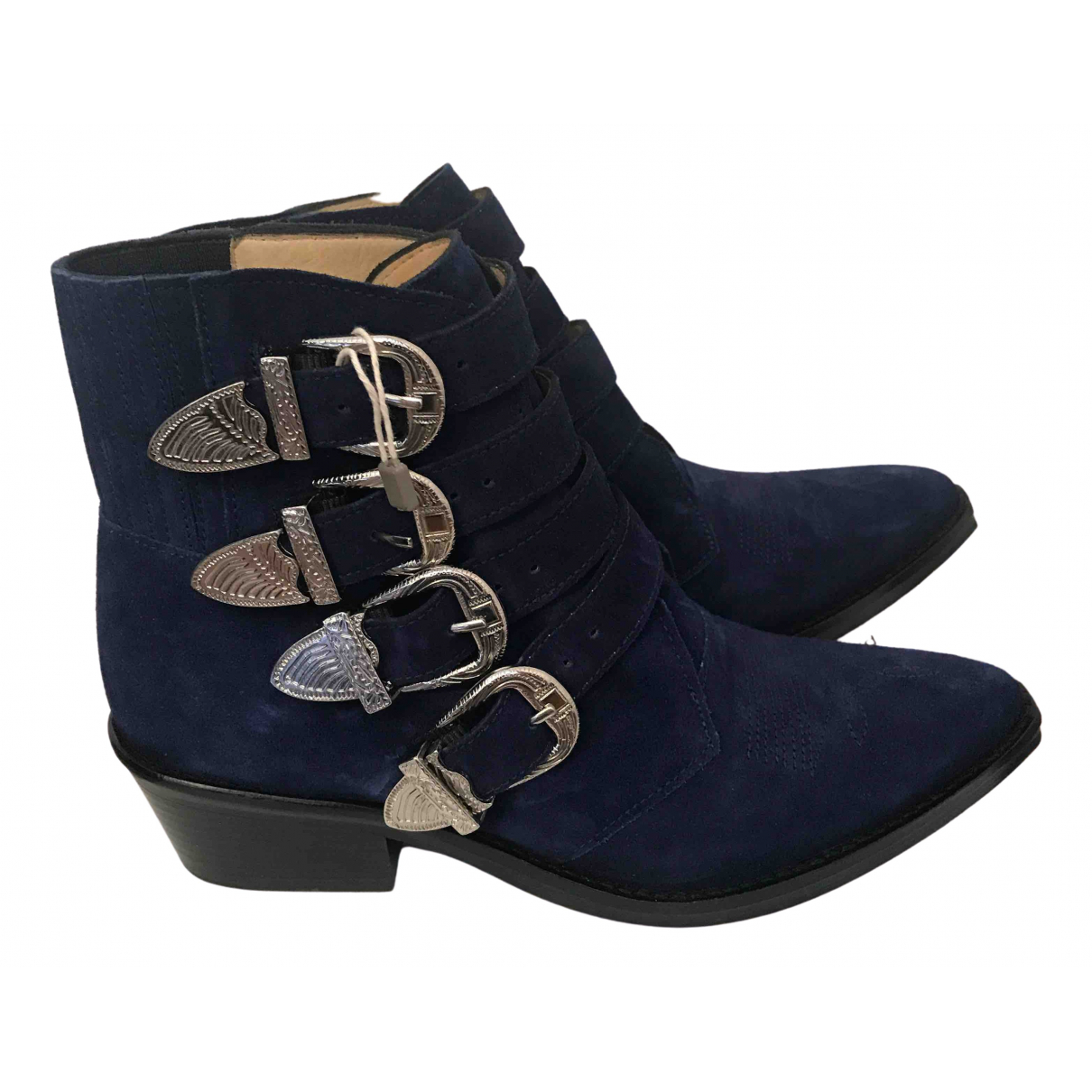Toga Pulla \N Blue Suede Boots for Women 36 EU