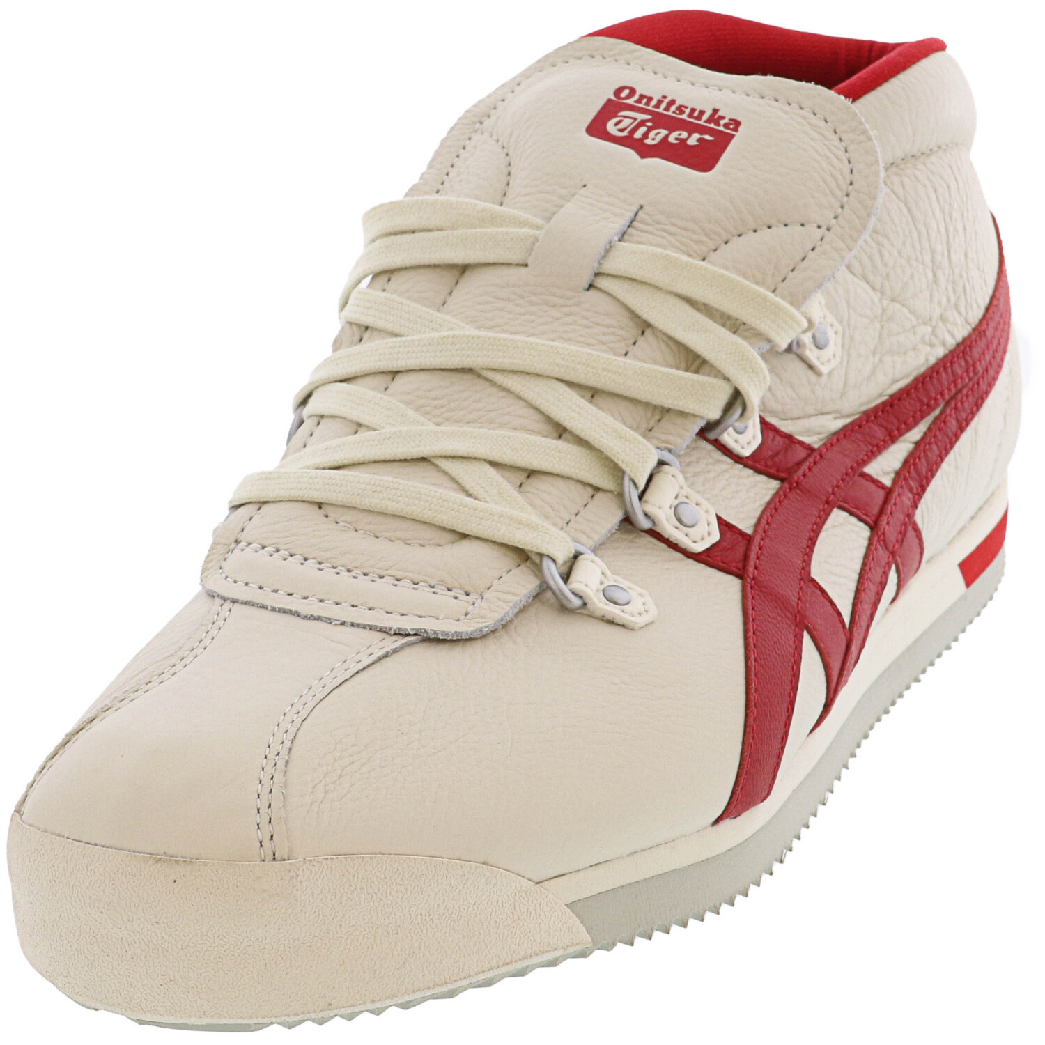 Onitsuka Tiger Men's Schanze 72 Cream / Classic Red Low Top Sneaker - 11.5M