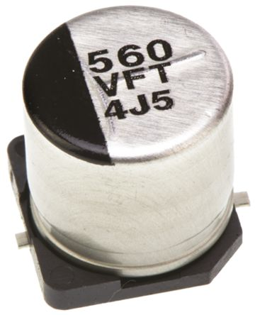 Panasonic 560μF Electrolytic Capacitor 35V dc, Surface Mount - EEEFT1V561AP (5)