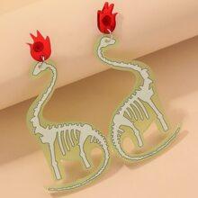 Ohrringe mit Acryl Dinosaurier Dekor