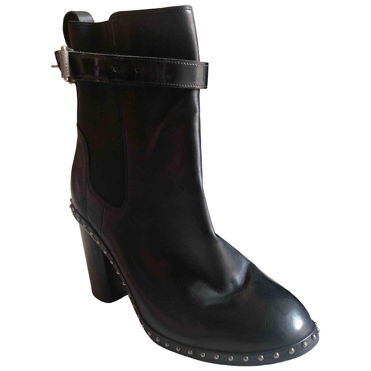 Rag & Bone \N Stiefel in  Schwarz Leder