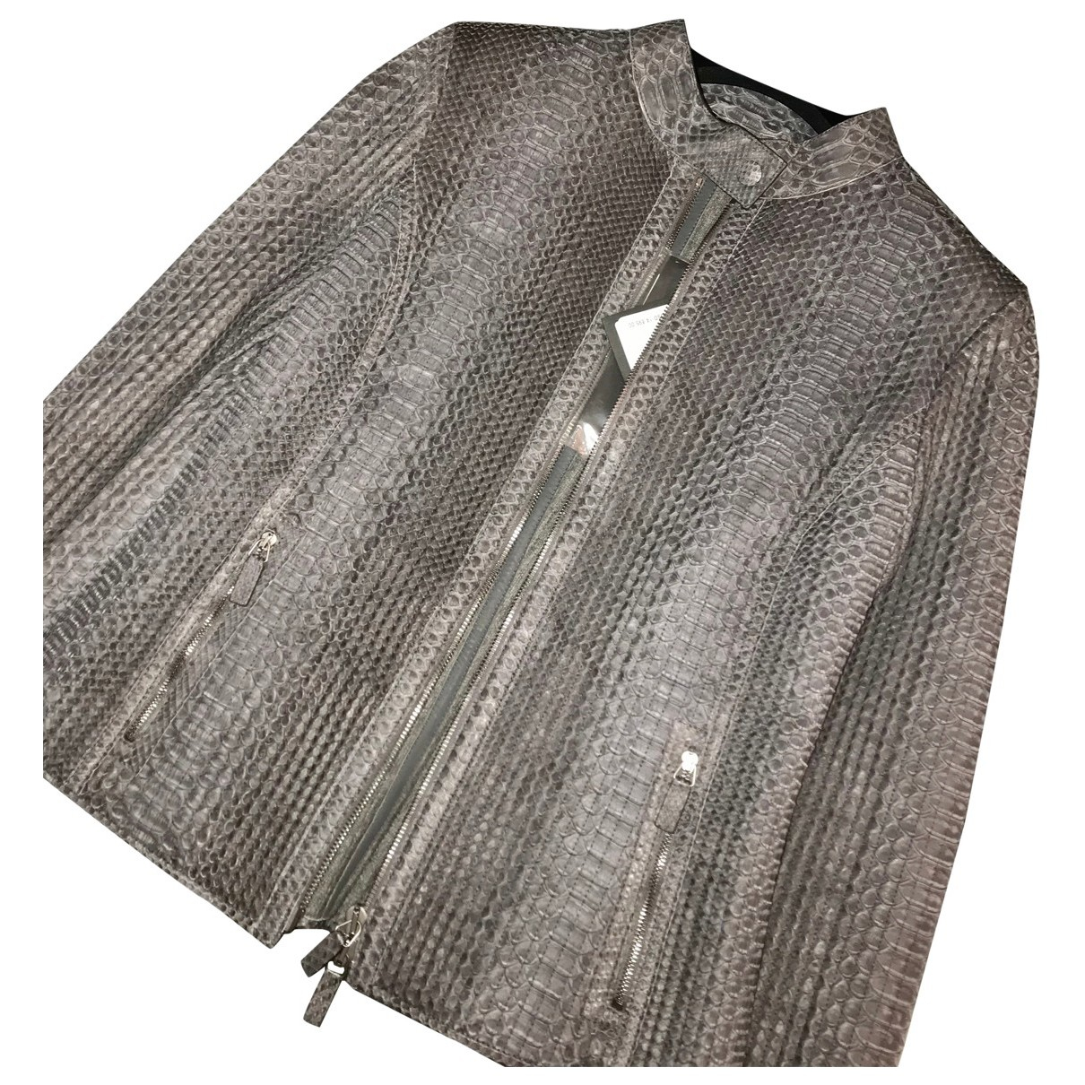 Giorgio Armani \N Grey Python jacket for Women S International