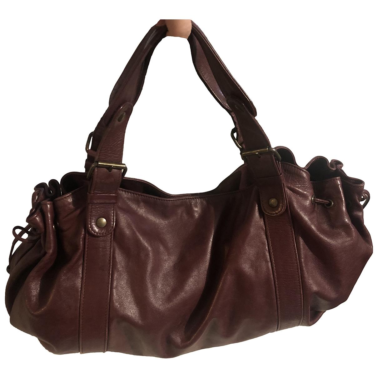 Gerard Darel 24h Burgundy Leather handbag for Women \N