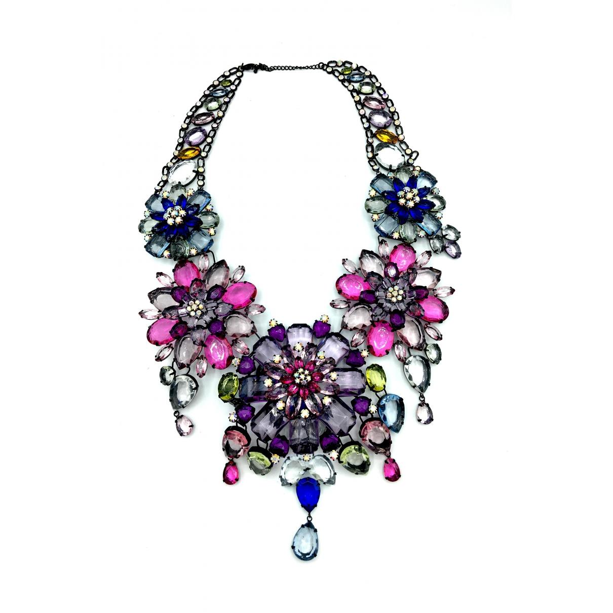- Collier Motifs Floraux pour femme en cristal - multicolore