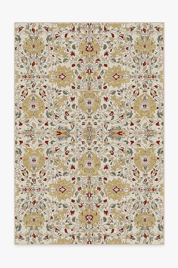 Washable Rug Cover & Pad | Marie Natural Rug | Stain-Resistant | Ruggable | 6'x9'