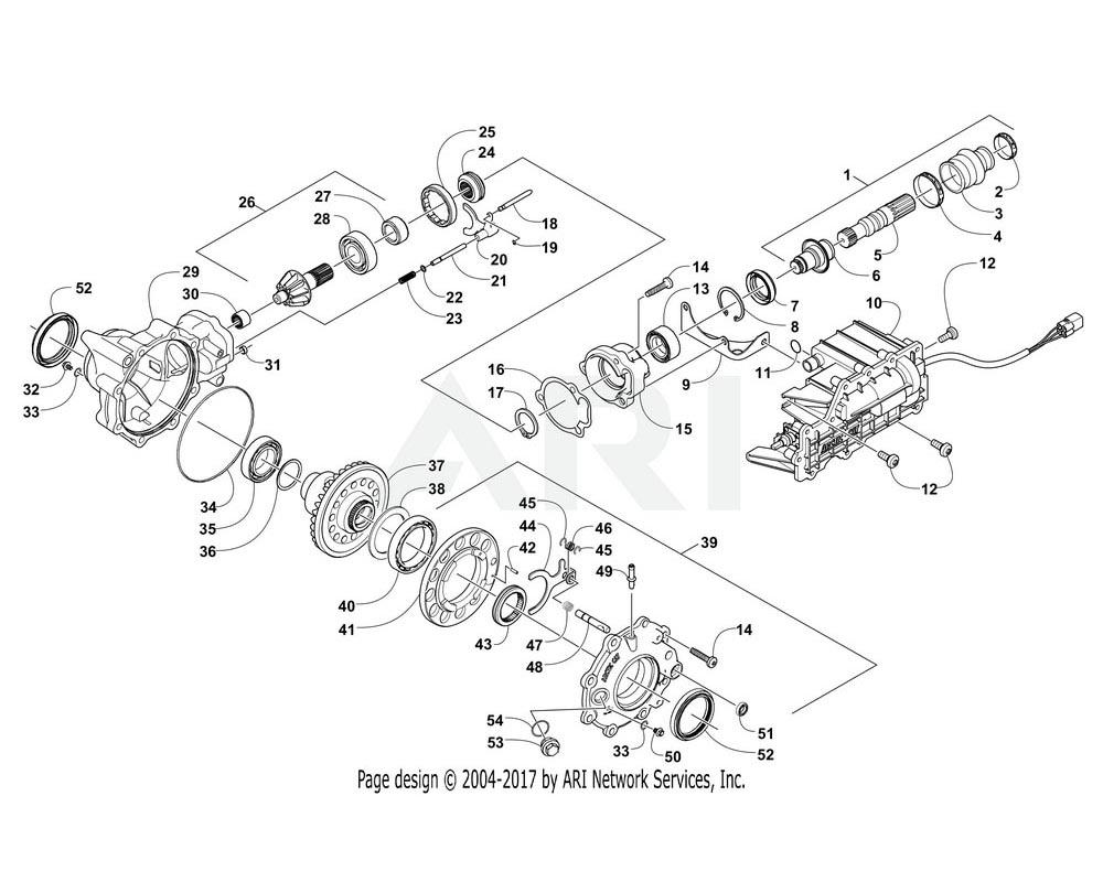 Arctic Cat OEM 1502-394 Gearcase Front(3.6 H1 Elec Lock)