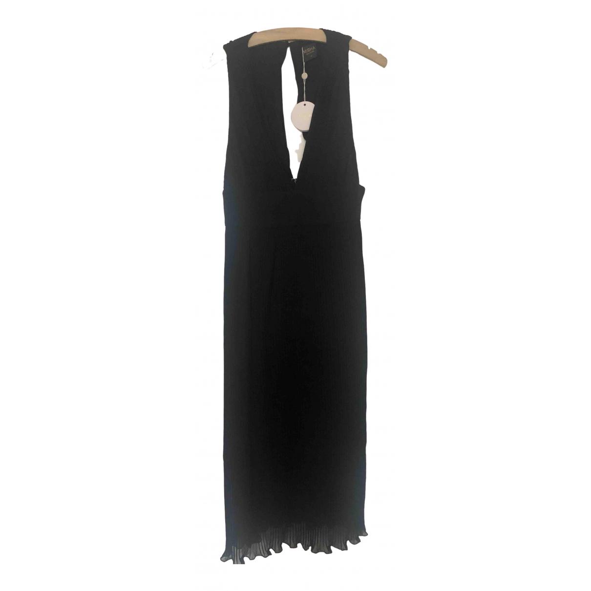 Misha Collection \N Kleid in  Schwarz Polyester