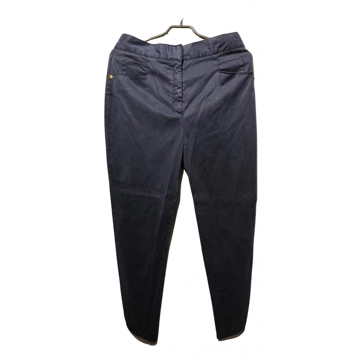 Balmain N Navy Trousers for Women 42 IT