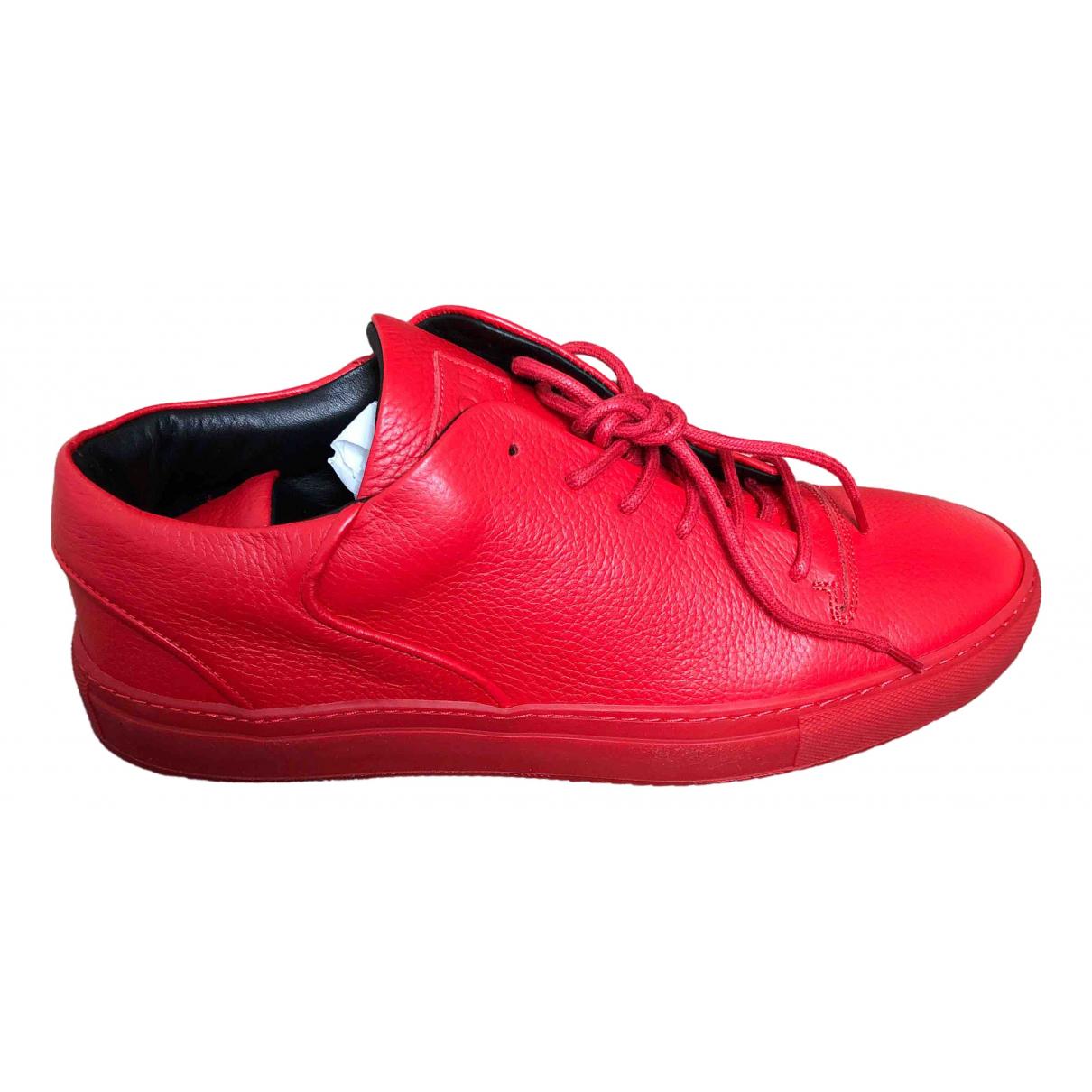 Mason Garments - Baskets   pour homme en cuir - rouge
