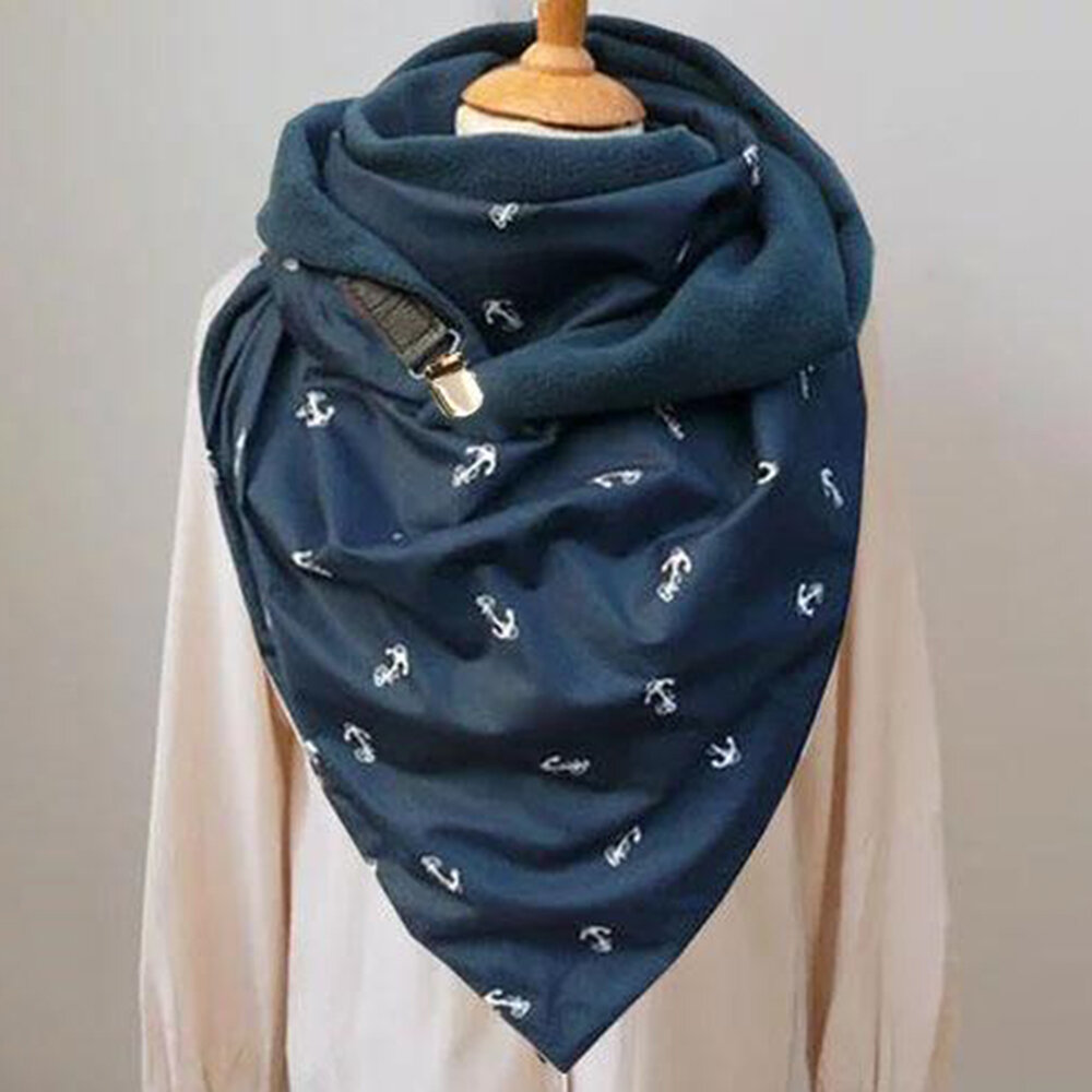 Women Scarf Shawl Wrap Versatile Thick Warmth Shawl Printing Scarf