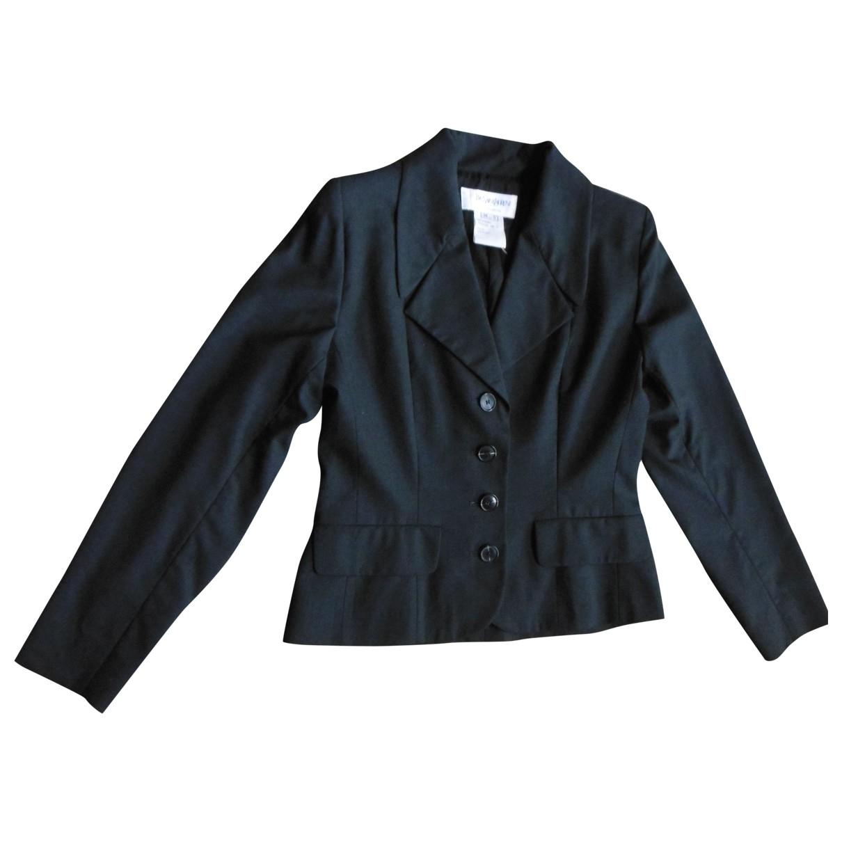 Yves Saint Laurent \N Jacke in  Anthrazit Wolle
