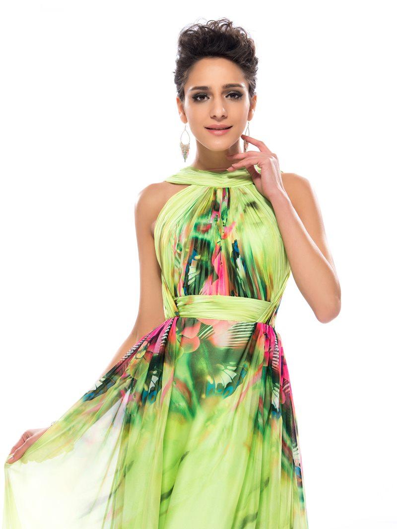 High Neck Backless Long Prom Dress