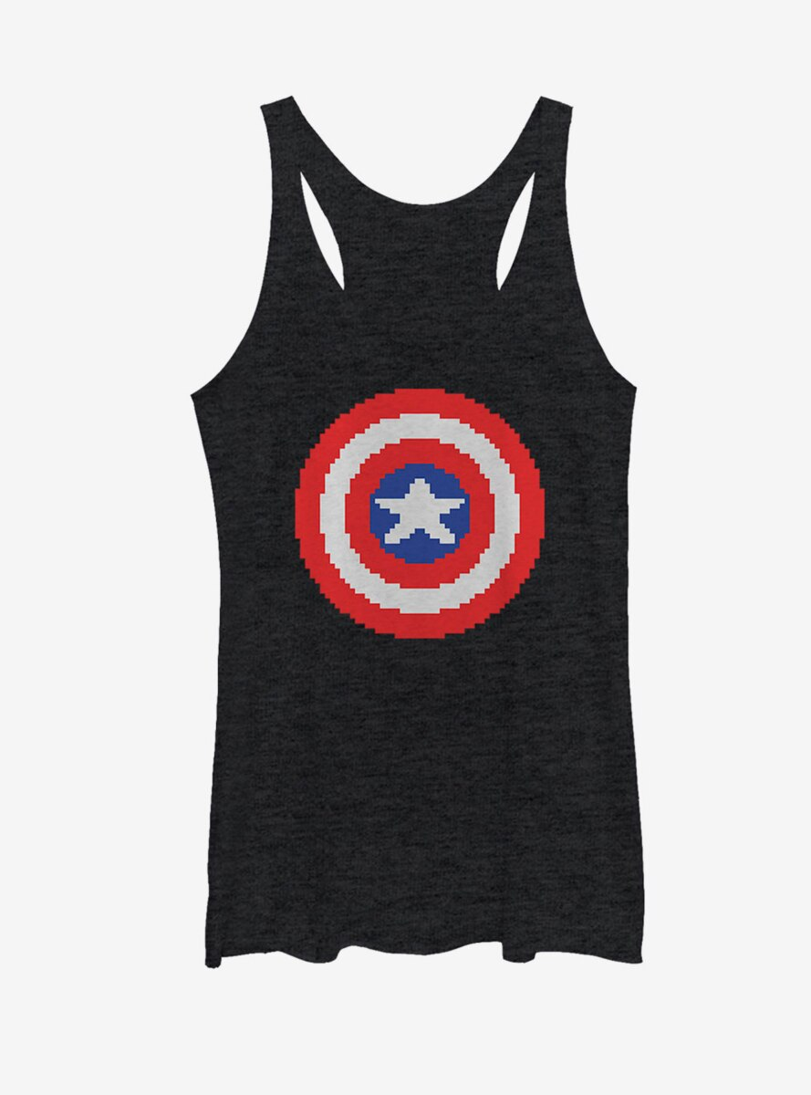 Marvel Captain America Pixelated Shield Womens Tank