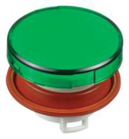 Idec SWITCH;HW PB LENS ROUND FLUSH GREEN