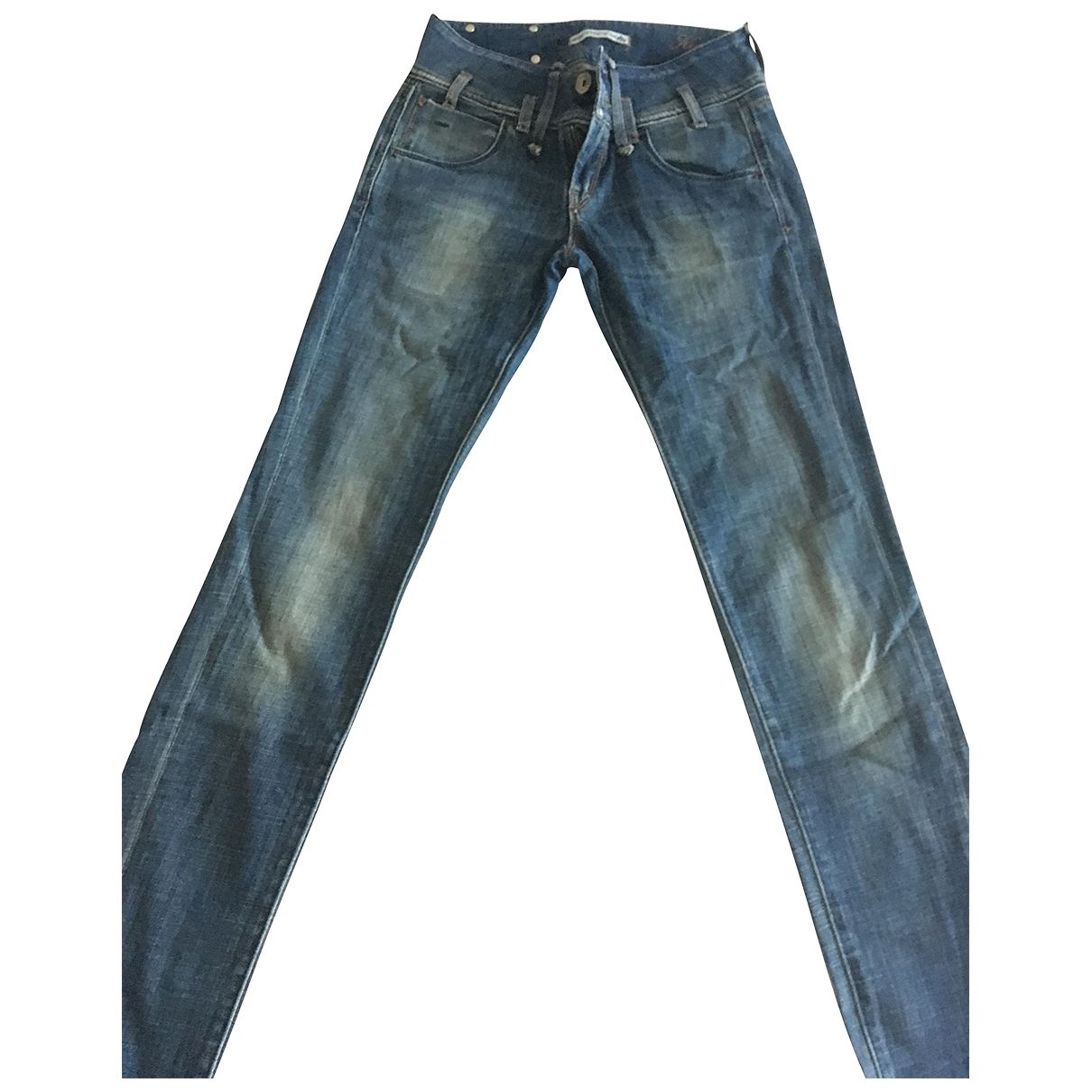 Non Signe / Unsigned \N Jeans in  Blau Baumwolle - Elasthan