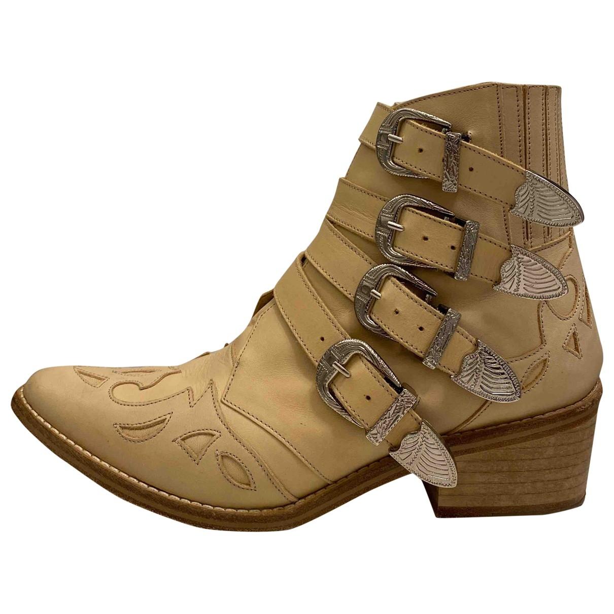 Toga Pulla \N Stiefel in  Beige Leder