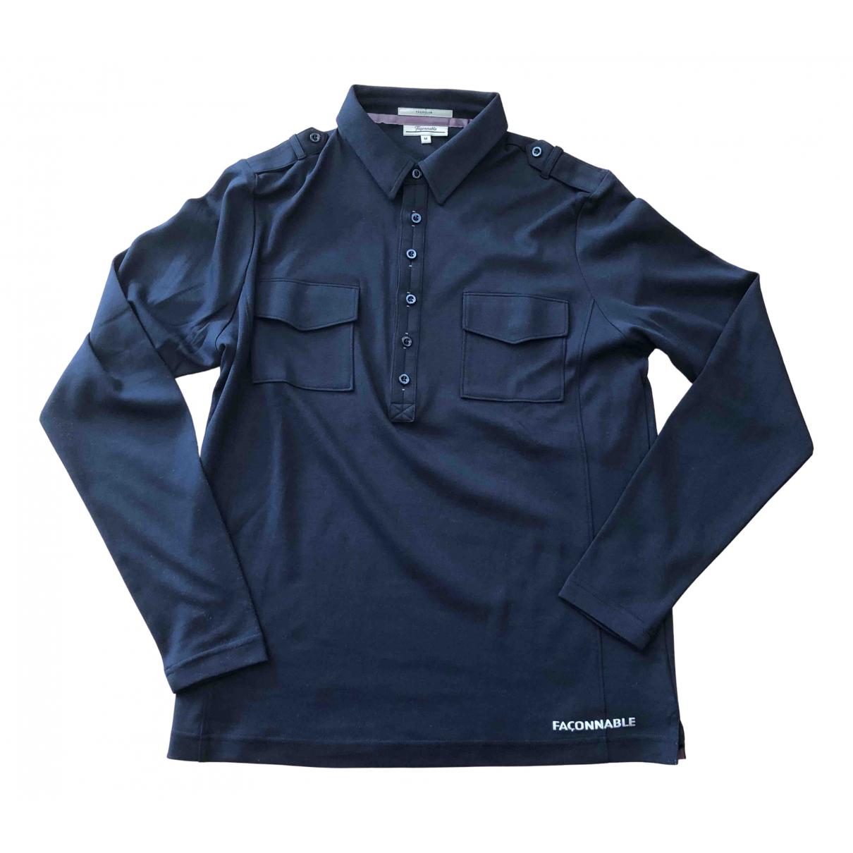 Faconnable \N Poloshirts in  Blau Baumwolle