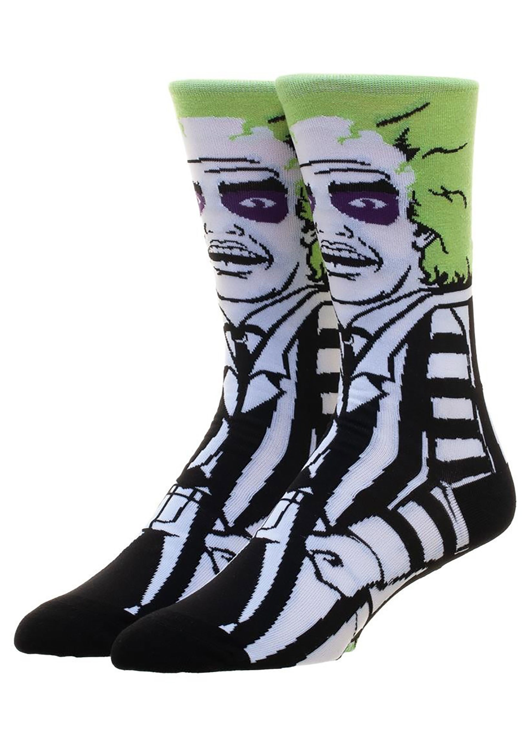 360 Character Crew Sock Classic Films Beetlejuice