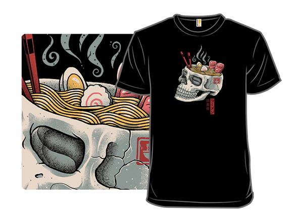 Ramen Skull T Shirt