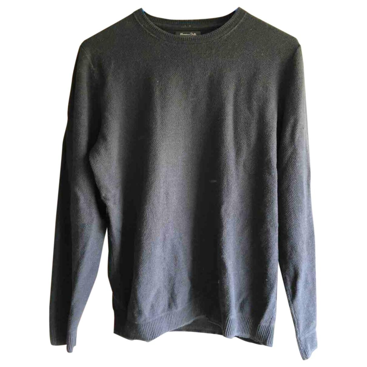 Massimo Dutti \N Pullover.Westen.Sweatshirts  in  Schwarz Baumwolle