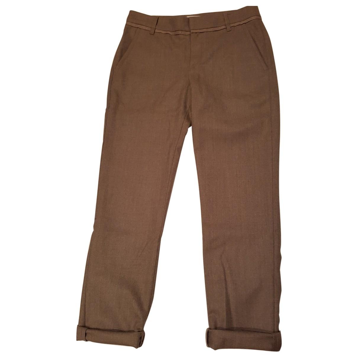 Brunello Cucinelli - Pantalon   pour femme en laine - beige