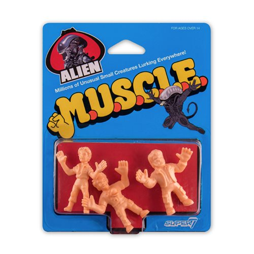 Alien M.U.S.C.L.E. Pack D Mini-Figures - Kane with Chestburster, Lambert, Dallas