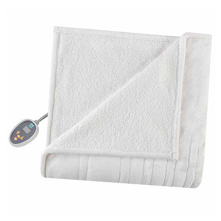 True North Reversible Ultra Soft Plush Electric Blanket, One Size , White