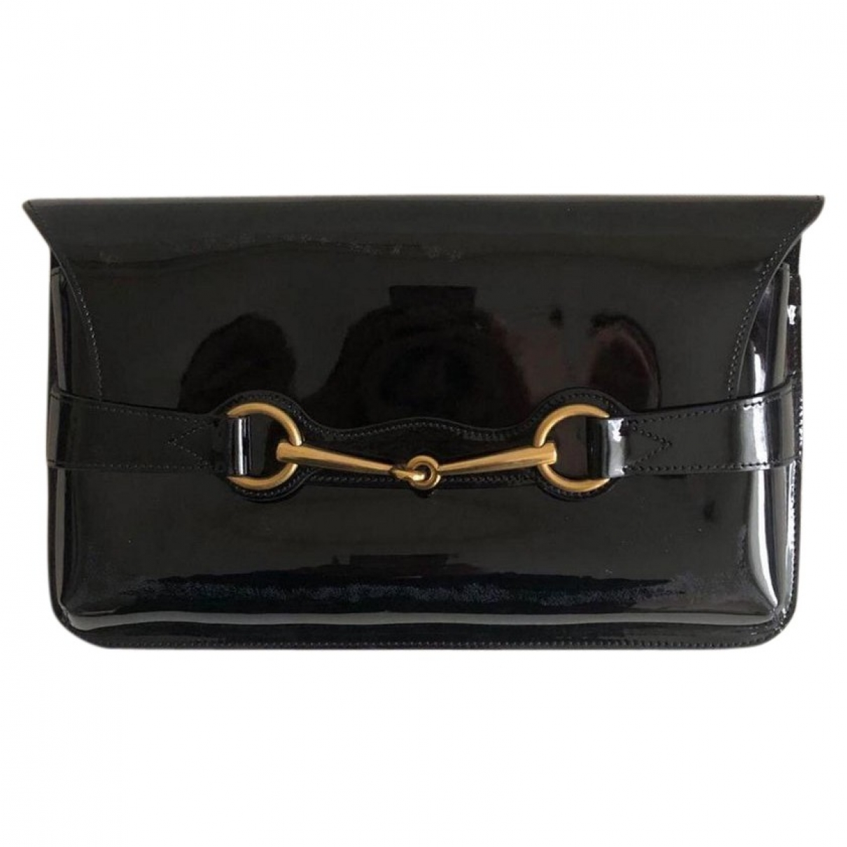 Gucci \N Black Patent leather Clutch bag for Women \N