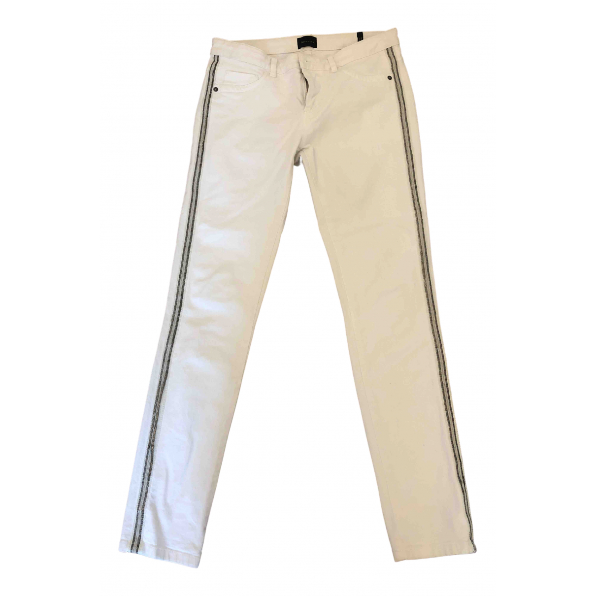 Berenice \N White Cotton Jeans for Women 27 US