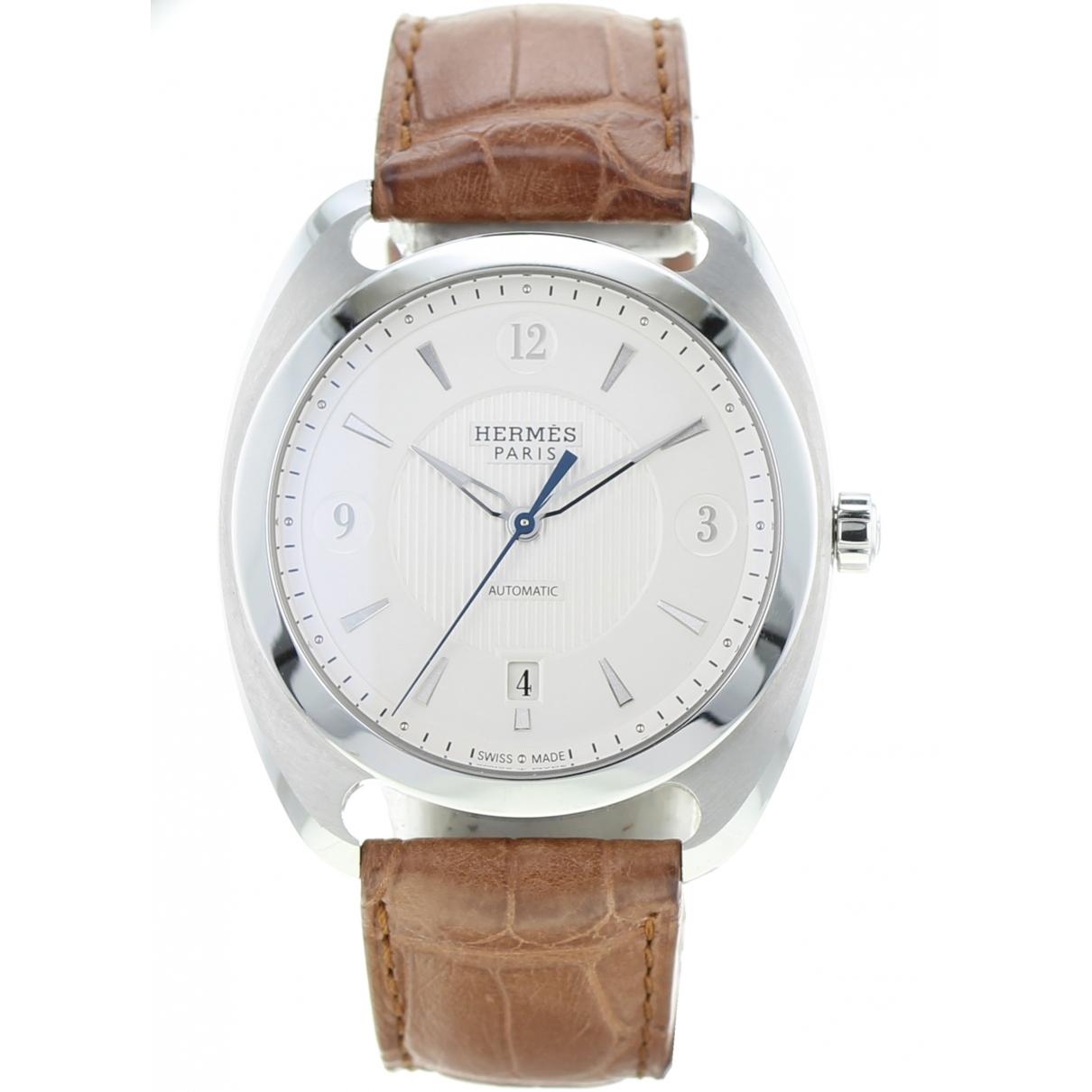 Hermès Dressage Brown Steel watch for Men \N