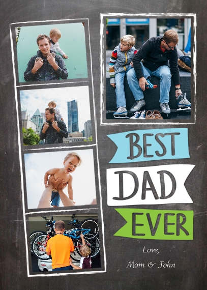 Father's Day 5x7 Folded Cards, Standard Cardstock 85lb, Card & Stationery -Father's Day Best Dad Ever Flags