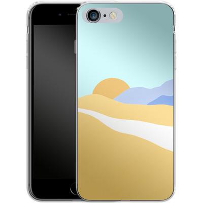 Apple iPhone 6s Plus Silikon Handyhuelle - Sunset Beach von Lucy Bohr