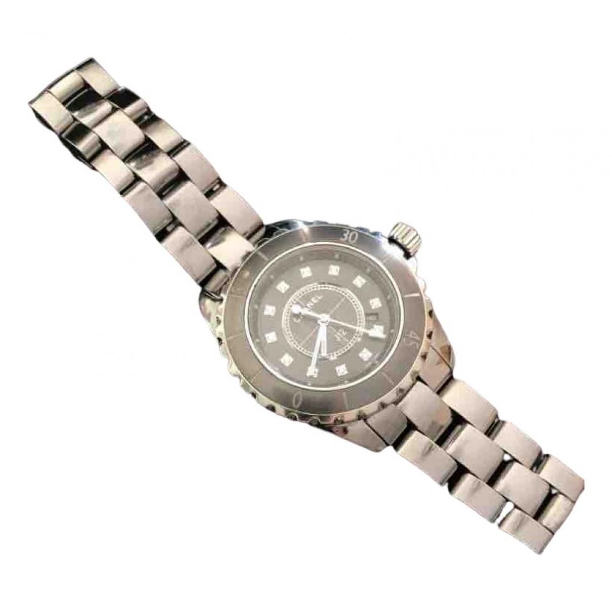 Chanel J12 Quartz Silver Titanium watch for Women \N