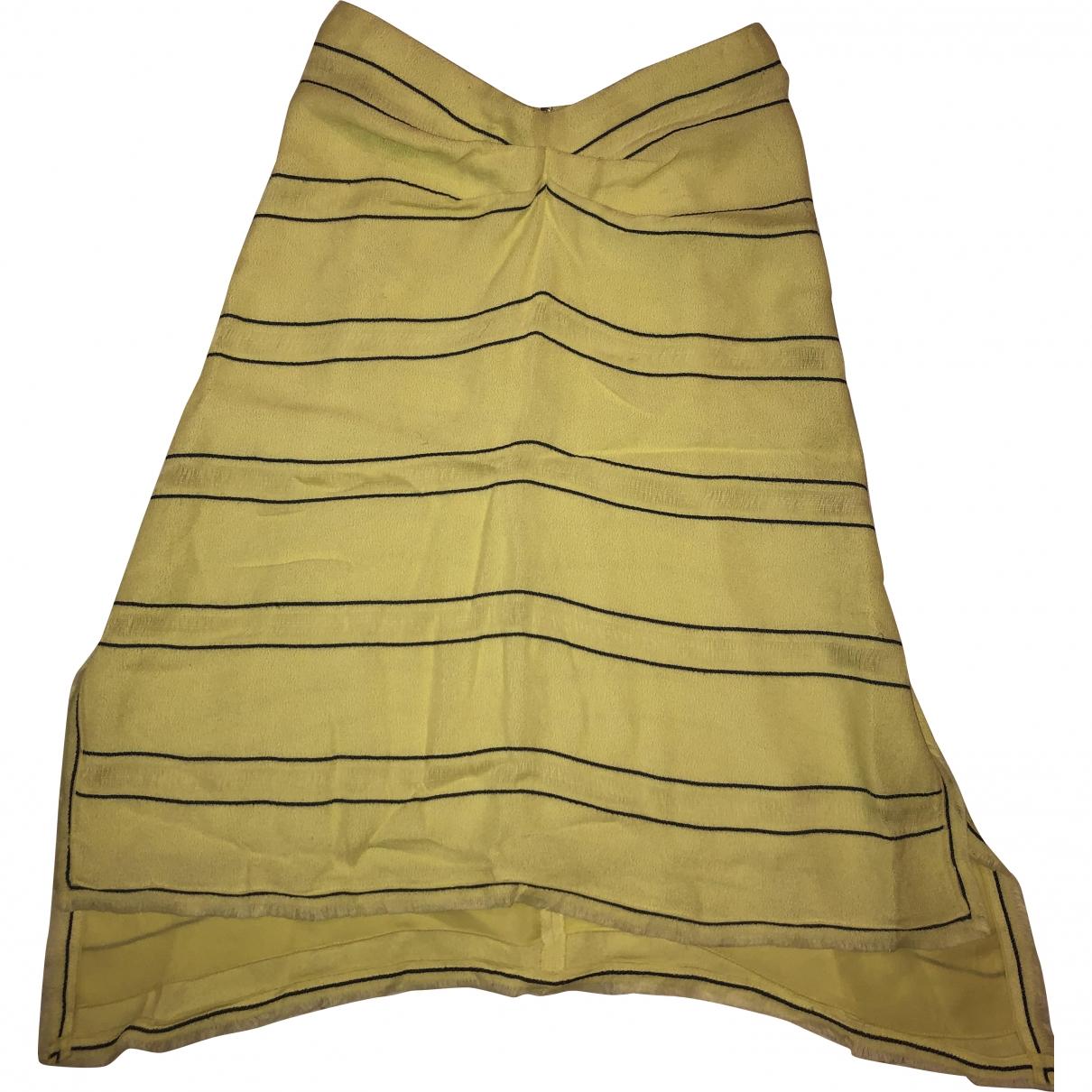 Proenza Schouler \N Kleid in  Gelb Viskose