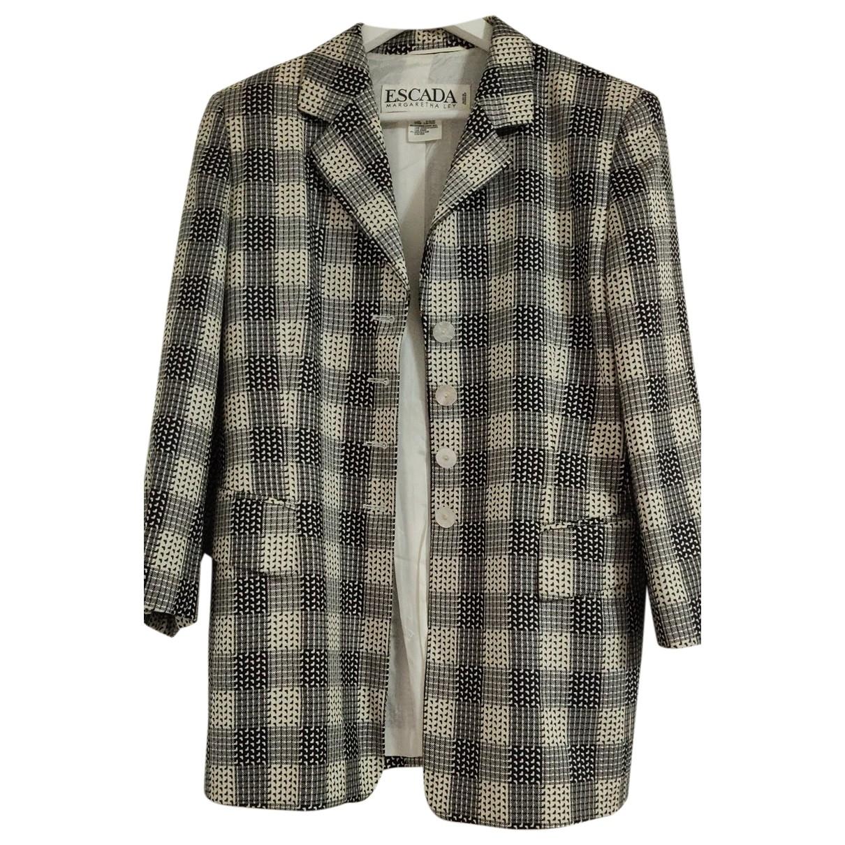 Escada \N White Silk jacket for Women 38 FR