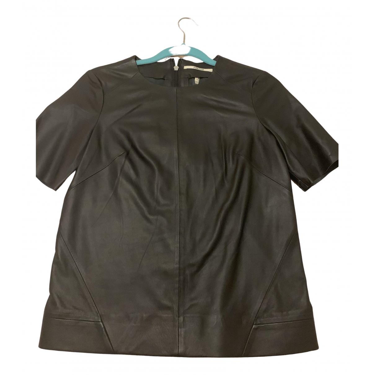 J Brand N Black Leather  top for Women 34 FR