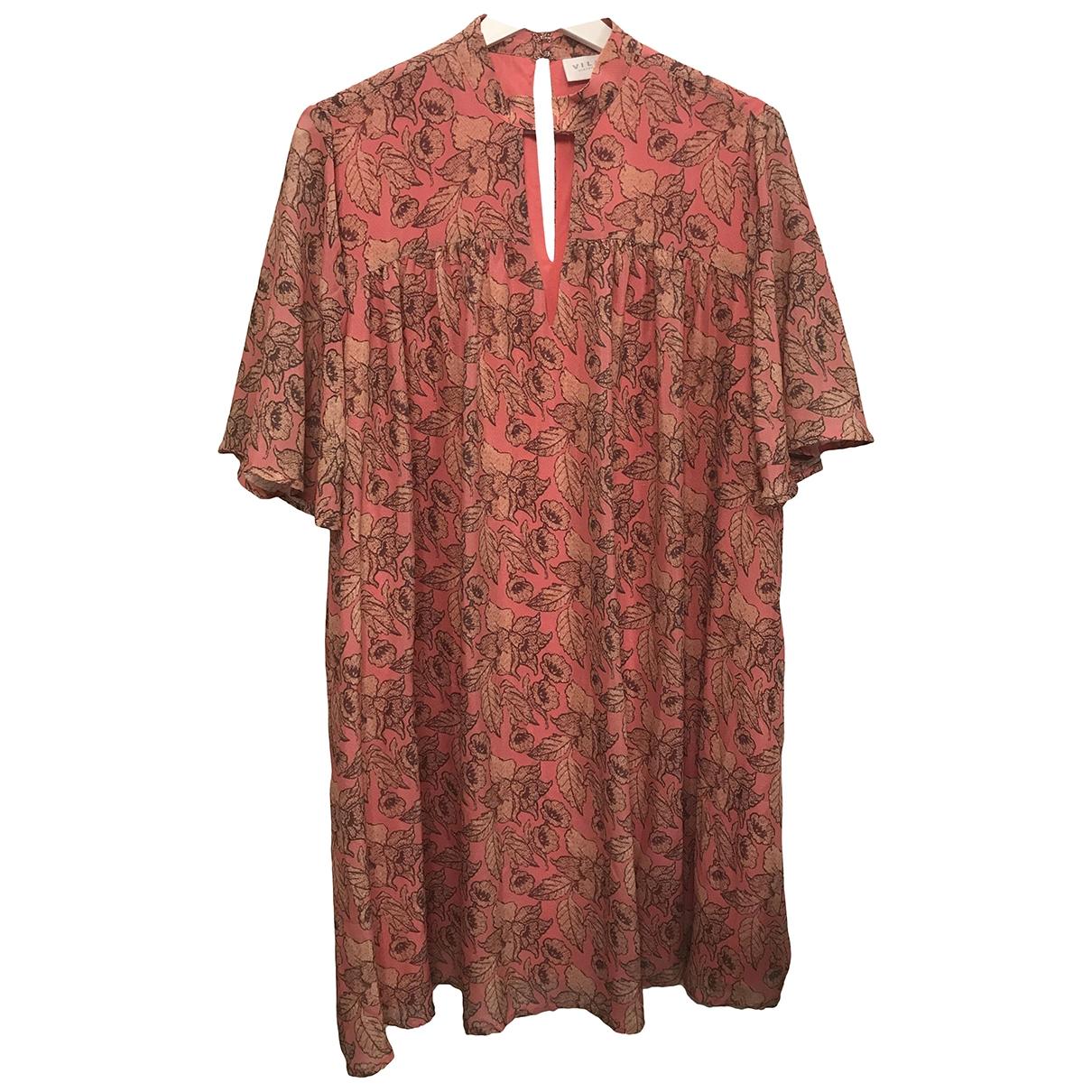 Non Signe / Unsigned Oversize Kleid in  Rosa Viskose